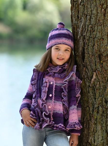 Strickanleitung Kinderjacke, Schal und Mütze