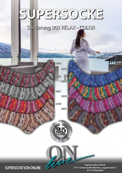SUPERSOCKE 8-FACH SORT.303 RELAX-COLOR