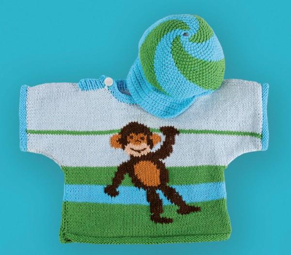 Strickanleitung Affen-Pullover